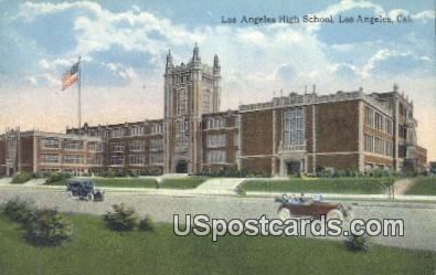 Los Angeles High School - California CA Postcard