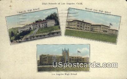 Manual Arts High School - Los Angeles, California CA Postcard