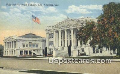 Polytechnic High School - Los Angeles, California CA Postcard