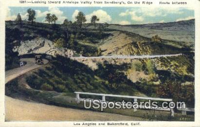 Antelope Valley - Bakersfield, California CA Postcard