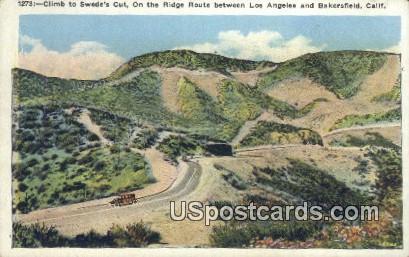 Climb to Swede's Cut - Los Angeles, California CA Postcard