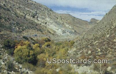 Rambling along the Ridge Route - Bakersfield, California CA Postcard