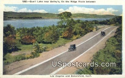 Quail Lake - Bakersfield, California CA Postcard