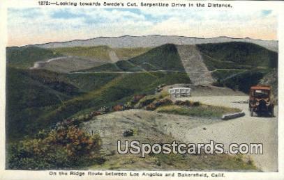 Swede's Cut - Bakersfield, California CA Postcard