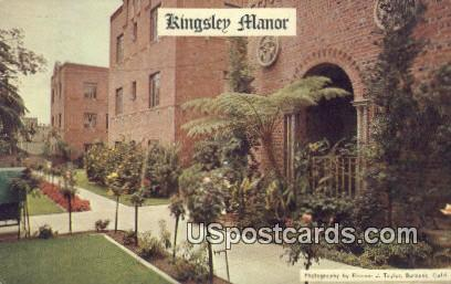 Kingsley Manor - Los Angeles, California CA Postcard