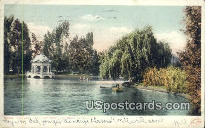 Lake, East Lake Park - Los Angeles, California CA Postcard