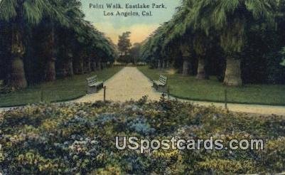 Palm Walk, Eastlake Park - Los Angeles, California CA Postcard