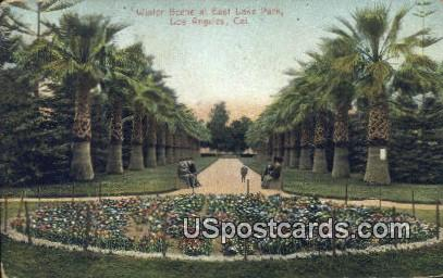 East Lake Park - Los Angeles, California CA Postcard