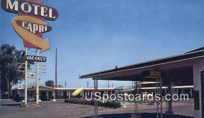 Motel Capri - Fresno, California CA Postcard