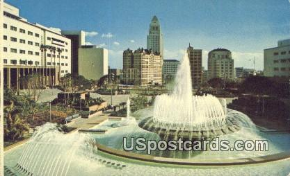 The Mall, Fountain, Civic Center - Los Angeles, California CA Postcard