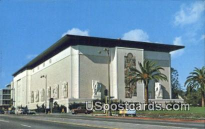Masonic Temple - Los Angeles, California CA Postcard