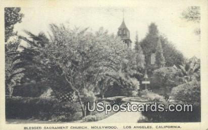 Blessed Sacrament Church, Hollywood - Los Angeles, California CA Postcard