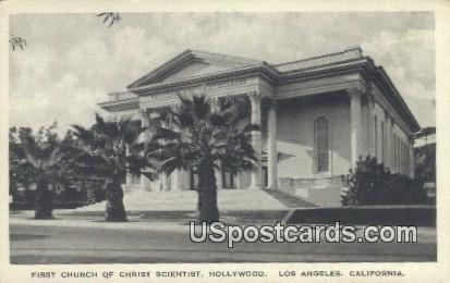 First Church of Christ Scientist - Los Angeles, California CA Postcard