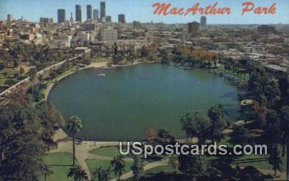 MacArthur Park - Los Angeles, California CA Postcard