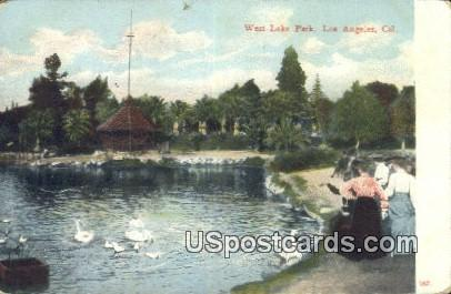 West Lake Park - Los Angeles, California CA Postcard