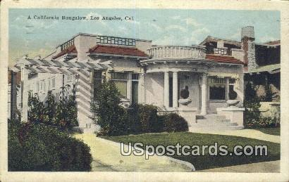 California Bungalows - Los Angeles Postcard