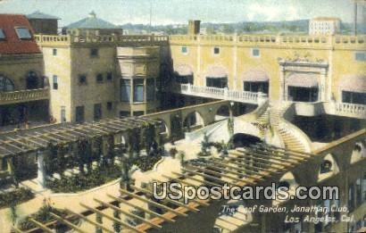 Roof Garden, Jonathan Club - Los Angeles, California CA Postcard