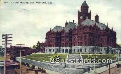 Court House - Los Angeles, California CA Postcard