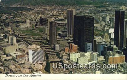 Downtown - Los Angeles, California CA Postcard