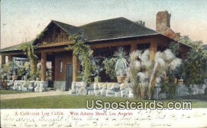 Log Cabin - Los Angeles, California CA Postcard
