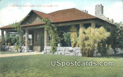 California Log Cabin - Los Angeles Postcard
