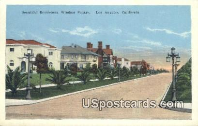 Windsor Square - Los Angeles, California CA Postcard