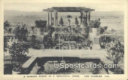 Beautiful Home - Los Angeles, California CA Postcard