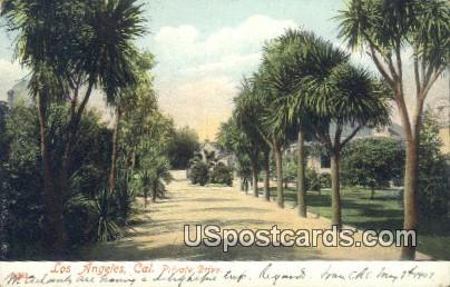 Private Drive - Los Angeles, California CA Postcard