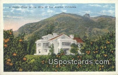 Pretty Home - Los Angeles, California CA Postcard