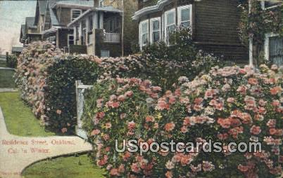 Residence Street - Oakland, California CA Postcard