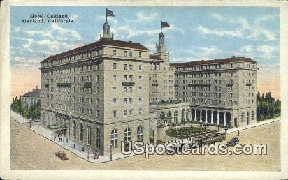 Hotel Oakland - California CA Postcard