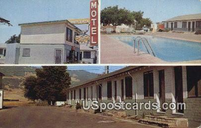 Monte Vista Motel - Santa Rosa, California CA Postcard