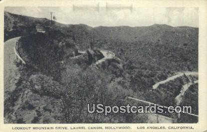 Lookout Mountain Drive, Laurel Canon - Los Angeles, California CA Postcard