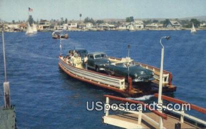Balboa Island - Newport Harbor, California CA Postcard