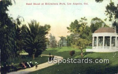 Band Stand, Hollenbeck Park - Los Angeles, California CA Postcard