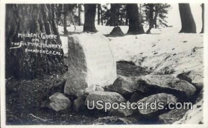 Real Photo - Maiden's Grave, Alpine Highway - Amadorco, California CA Postcard
