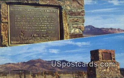Bullfrog Rhyolite Cemetery - Death Valley National Monument, California CA Postcard