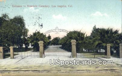 Rosedale Cemetery - Los Angeles, California CA Postcard