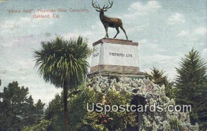Elk's Rest, Mountain View Cemetery - Oakland, California CA Postcard