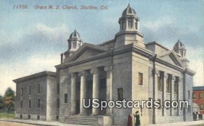 Grace ME Church - Stockton, California CA Postcard