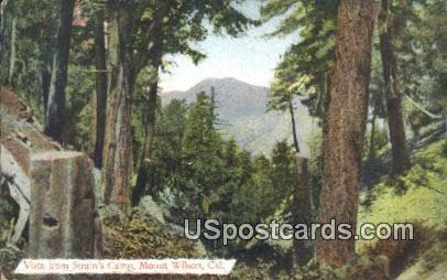 Strain's Camp - Mt. Wilson, California CA Postcard