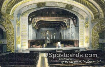 Auditorium - Los Angeles, California CA Postcard