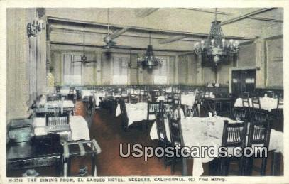 Dining Room, El Garces Hotel - Needles, California CA Postcard