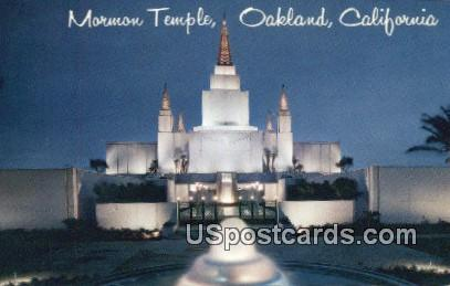 Mormon Temple - Oakland, California CA Postcard