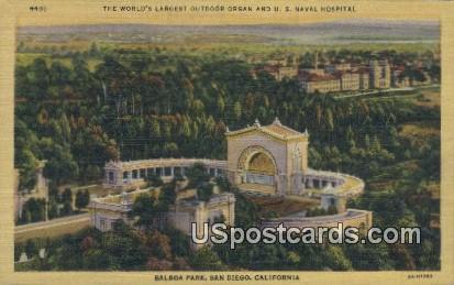 Balboa Park - San Diego, California CA Postcard