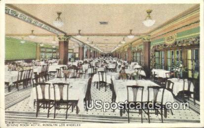 Dining Room, Hotel Rosslyn - Los Angeles, California CA Postcard