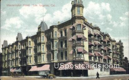 Westminster Hotel - Los Angeles, California CA Postcard