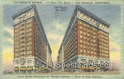Rosslyn Hotels - Los Angeles, California CA Postcard