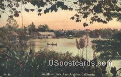 Westlake Park - Los Angeles, California CA Postcard