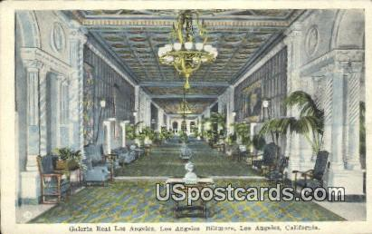 Galeria Real Los Angeles, Biltmore - California CA Postcard
